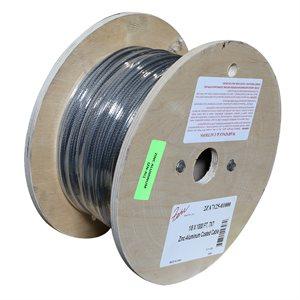1 / 8 X 1000 FT, 7X7 Zinc-Aluminum Coated Cable