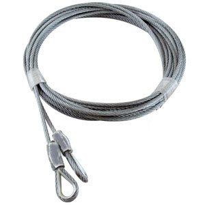 1 / 8 X 156 7X7 GAC Garage Door Thimble Loop Extension Lift Cables - Gray