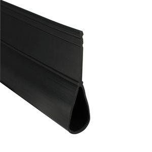 Rolling Steel Bulb Seal - Black X 150 FT