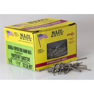 """Almond Maze 1-7 / 16"""" Ring Shank Trim Nail-5 Lb Ctn"""