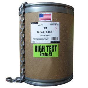 1 / 4 X 135 FT Galvanized High Test Chain - USA