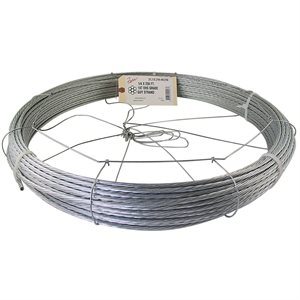 5 / 16 X 200 FT 1X7 EHS Galvanized Guy Strand w / Dispenser Cage