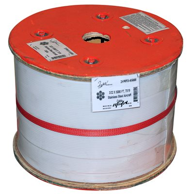 3 / 16 X 5000 FT, 7X7 Stainless Steel Aircraft Cable