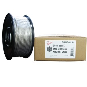 1 / 16 X 1000 FT, 7X7 Stainless Steel Aircraft Cable
