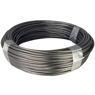 50 ft Coil T-316 1x19 5//32 Stainless Steel Cable Wire Rope