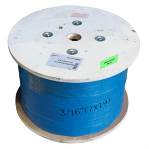3 / 16 X 5000 FT, 7X19 Zinc-Aluminum Coated Cable