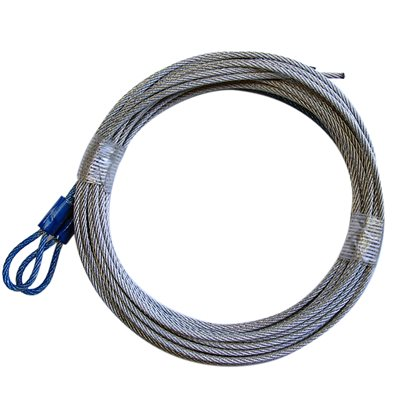 3 / 32 X 144 7X7 GAC Garage Door Plain Loop Extension Lift Cables - Blue