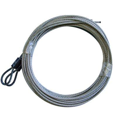 1 / 8 X 109 7X7 GAC Garage Door Torsion Lift Cables - Black