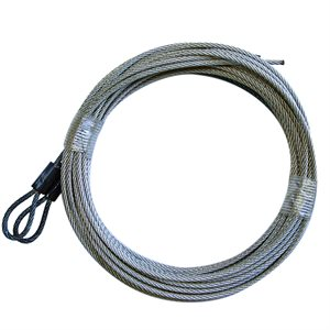 3 / 32 X 150 7X7 GAC Garage Door Plain Loop Extension Lift Cables - Black