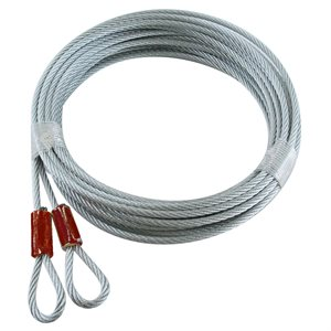 1 / 8 X 144 7X7 GAC Garage Door Plain Loop Extension Lift Cables - Red