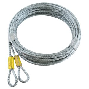5 / 32 X 144 7X7 GAC Garage Door Plain Loop Extension Lift Cables - Yellow