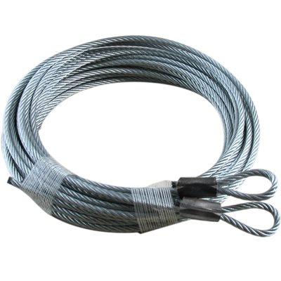 1 / 8 X 180 7X19 GAC Garage Door Plain Loop Extension Lift Cables - Black