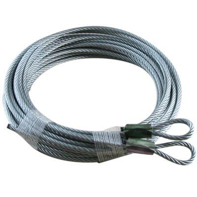 1 / 8 X 168 7X19 GAC Garage Door Plain Loop Extension Lift Cables - Green