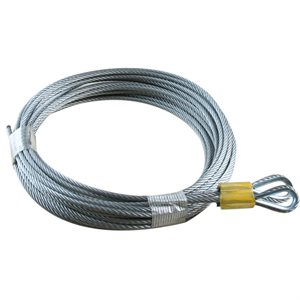 1 / 8 X 156 7X19 GAC Garage Door Thimble Loop Extension Lift Cables - Yellow
