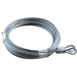 1 / 8 X 168 7X19 GAC Garage Door Thimble Loop Extension Lift Cables