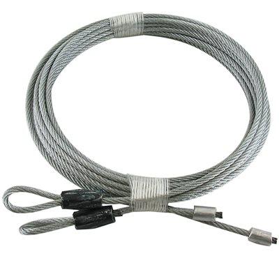 1 / 8 X 126 7X7 GAC Garage Door Torsion Lift Cables - Black