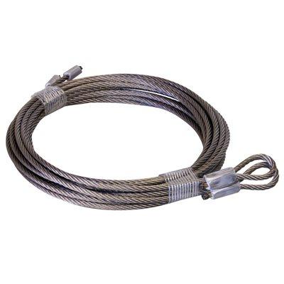 """1 / 8 X 102"""" 7X19 SSAC Garage Door Torsion Lift Cables"""