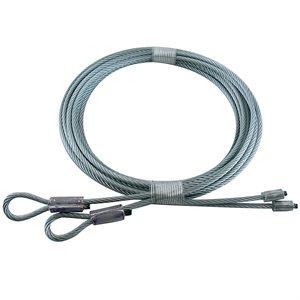 1 / 8 X 126 7X19 GAC Garage Door Torsion Lift Cables - Gray