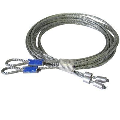 1 / 8 X 114 7X19 GAC Garage Door Torsion Lift Cables, Floating Stop - Blue