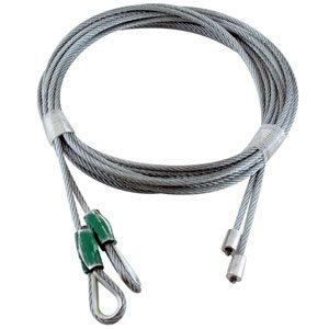 1 / 8 X 102 7X7 GAC Garage Door Thimbled Torsion Lift Cables - Green
