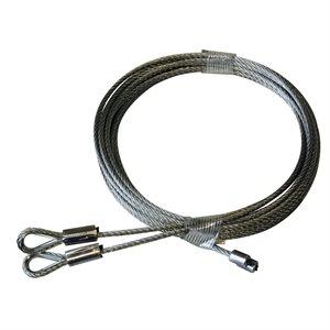 1 / 8 X 104 7X19 GAC Garage Door Thimbled Torsion Lift Cables