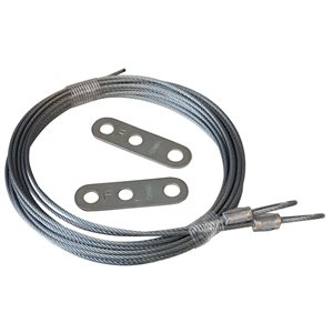 3 / 32 X 144 7X7 Extension Spring Retension Cables with Adjusting Clips