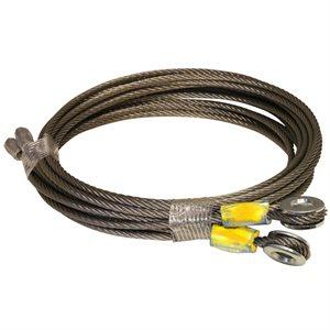 1 / 8 X 95 7X19 SSAC Truck Door Cables, 1 / 4 Eye - Yellow