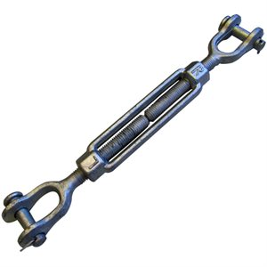 3 / 4 X 6 Forged Jaw / Jaw Turnbuckle Galvanized