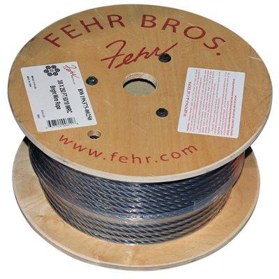 3 / 8 X 1000 FT 6X19 Fiber Core Bright Wire Rope
