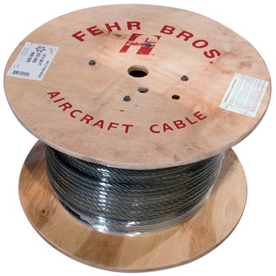 1 / 4 X 500 FT 6X19 Fiber Core Bright Wire Rope