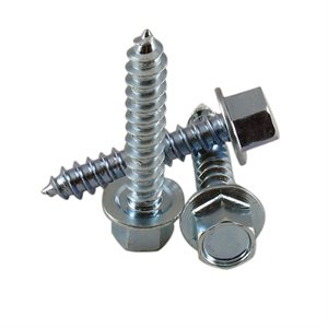 5 / 16 X 1-5 / 8 High Profile Hex Washer Head Lag Screw, Zinc Plated X 1000 Pcs