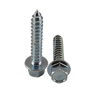 5 / 16 X 1-3 / 4 High Profile Hex Washer Head Lag Screw, Zinc Plated X 1200 Pcs