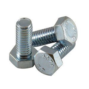 5 / 16-18 X 3 / 4 Hex Head Tap Bolt, Full Thread Zinc Plated X 1000 Pcs