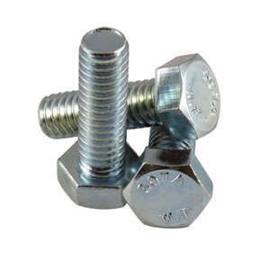 5 / 16-18 X 1 Hex Head Tap Bolt, Full Thread Zinc Plated X 1000 Pcs