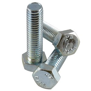 3 / 8-16 X 1-1 / 2 Hex Head Tap Bolt, Full Thread Zinc Plated X 500 Pcs