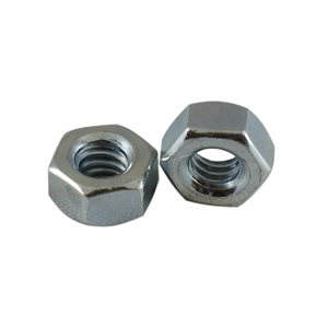 1 / 4-20 Finished Hex Nut Zinc Plated, 7 / 16 Across Flats X 1000 Pcs