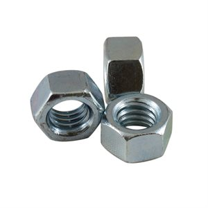 3 / 8-16 Finished Hex Nut Zinc Plated, 9 / 16 Across Flats X 1000 Pcs