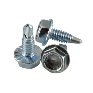 1 / 4-20 X 3 / 4 Hex Serrated Washer Head Drill-Tap Screw, 7 / 16 Across Flats X 2500 Pcs