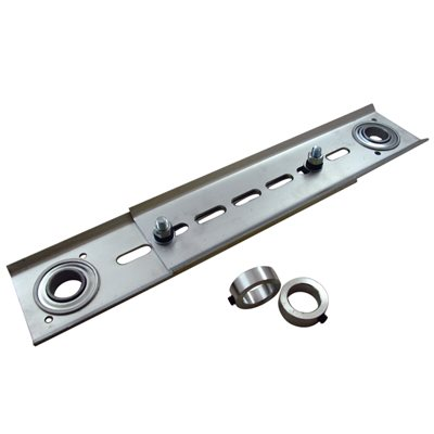 "Adj Jack Shaft Spreader Arm with 1"" Flanged Bearings & Shaft Collars"