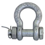 1 / 2 Galvanized Safety Shackle with Nut & Pin