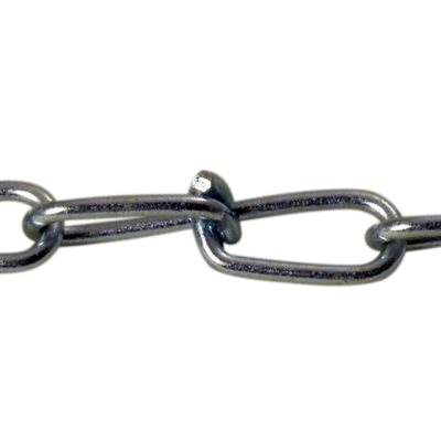 #4 X 500 FT Double Loop Chain Zinc Plated