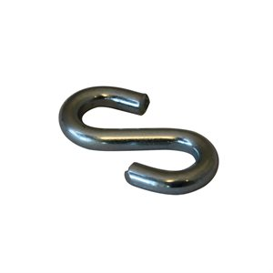 1 / 8 X1 IN X 100 Pcs S-Hook Zinc Plated
