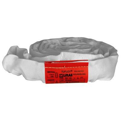 EN180 X 5 FT White Tuflex Polyester Roundsling