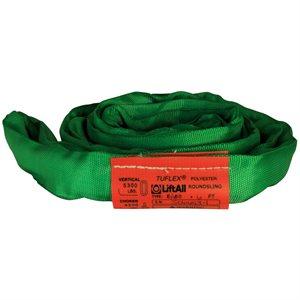 EN60 X 8 FT Green Tuflex Polyester Roundsling