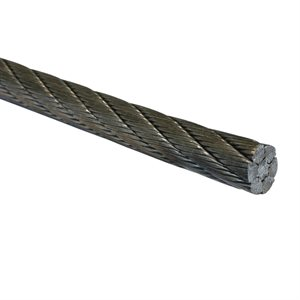 1 / 2 6X26 Double Swaged IWRC EIPS RRL Galvanized Wire Rope Cut Length