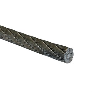 5 / 8 6X26 Double Swaged IWRC EIPS RRL Galvanized Wire Rope Cut Length