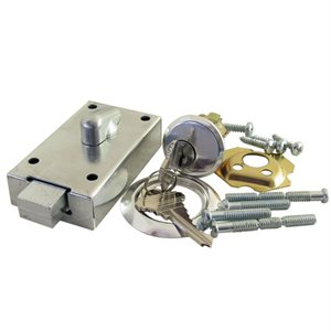 Stamped Steel Garage Door Deadbolt with Cylinder