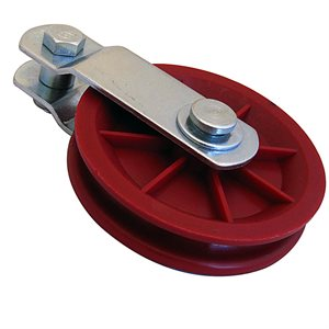 3-1 / 2 Red Plastic Pulley X 50 Pcs