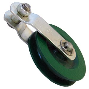 3-1 / 2 Cast Pulley w / out Eyebolt - Green X 25 Pcs