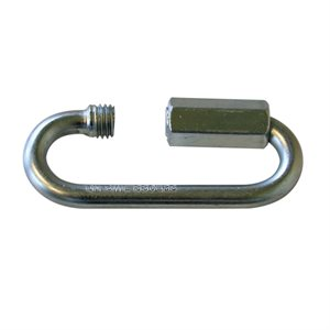 1 / 4 Quick Links Wide Opening Zinc Plated